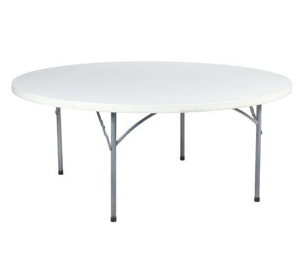 Mesa redonda de resina: Alquiler de Mantelería & Menaje