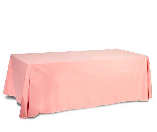 Mantel rectangular rosa: Alquiler de Mantelería & Menaje