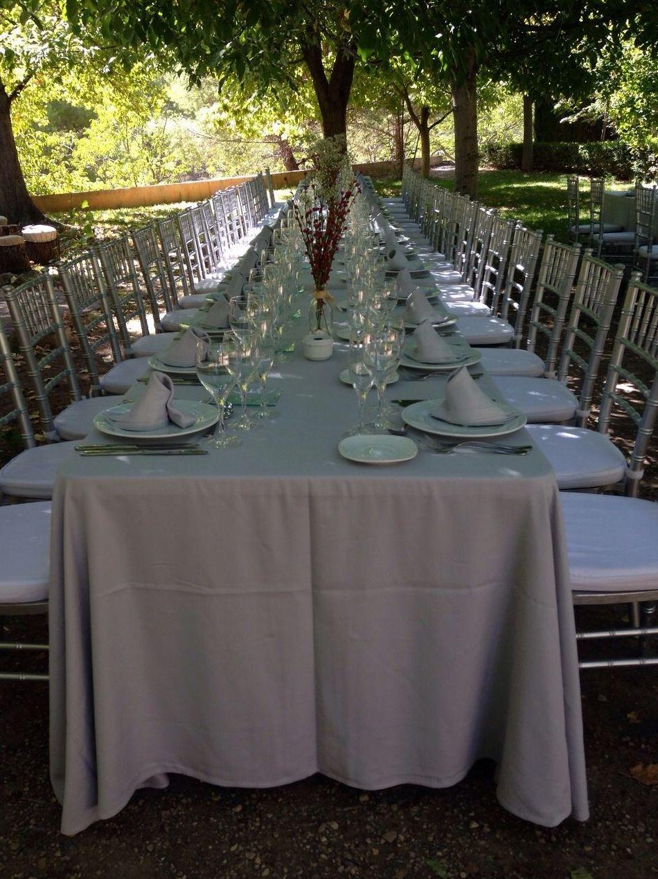 Vajillas, arreglos florales, sanitarios móviles... Todo perfecto para tu boda o evento
