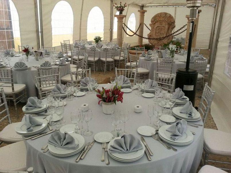 Alquiler de menaje para bodas en  Murcia