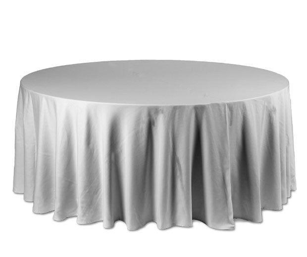 Mantel redondo plata: Alquiler de Mantelería & Menaje