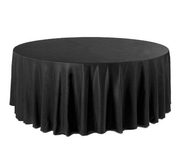 Mantel redondo negro: Alquiler de Mantelería & Menaje