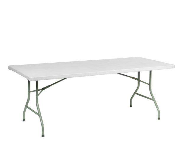 Mesa rectangular de resina: Alquiler de Mantelería & Menaje