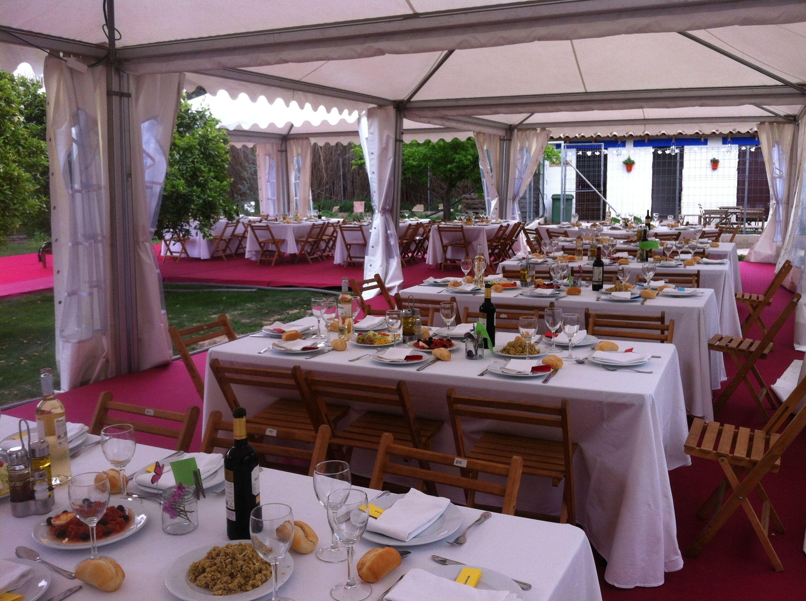 Alquiler de sillas, mesas, vajillas.. en Murcia