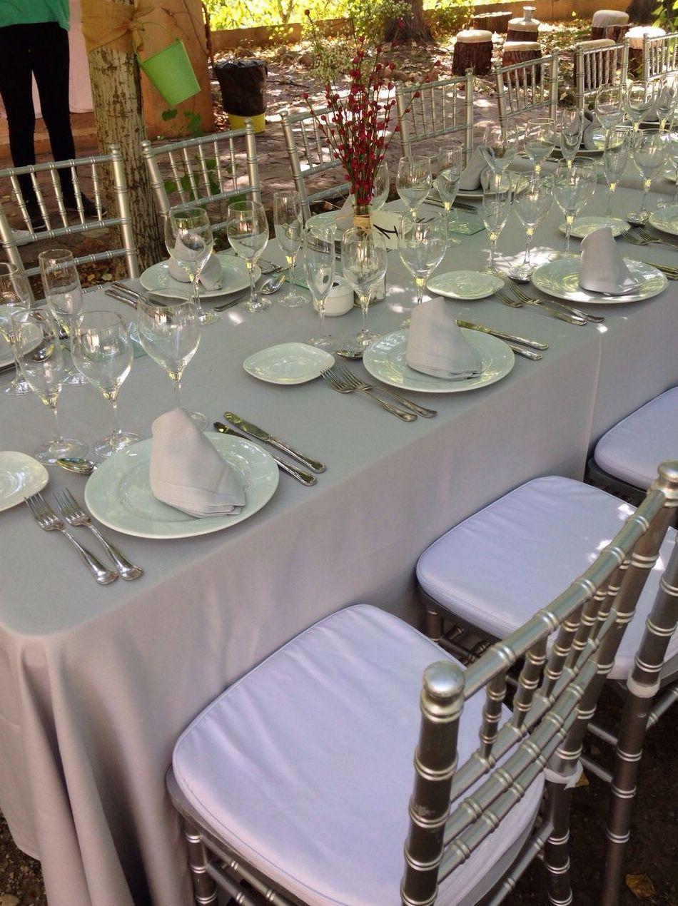 Vajillas y cristalería para eventos en Murcia