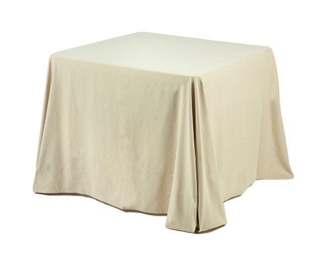 Mantel crema para mesa 90 cm x 90 cm: Alquiler de Mantelería & Menaje