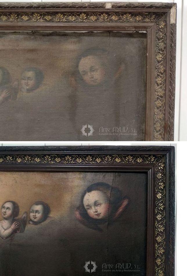 Restauración del cuadro San Iñigo.