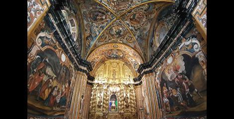 Restauración de la decoración mural de la Capilla de la Virgen de Malanca de Torrelapaja.