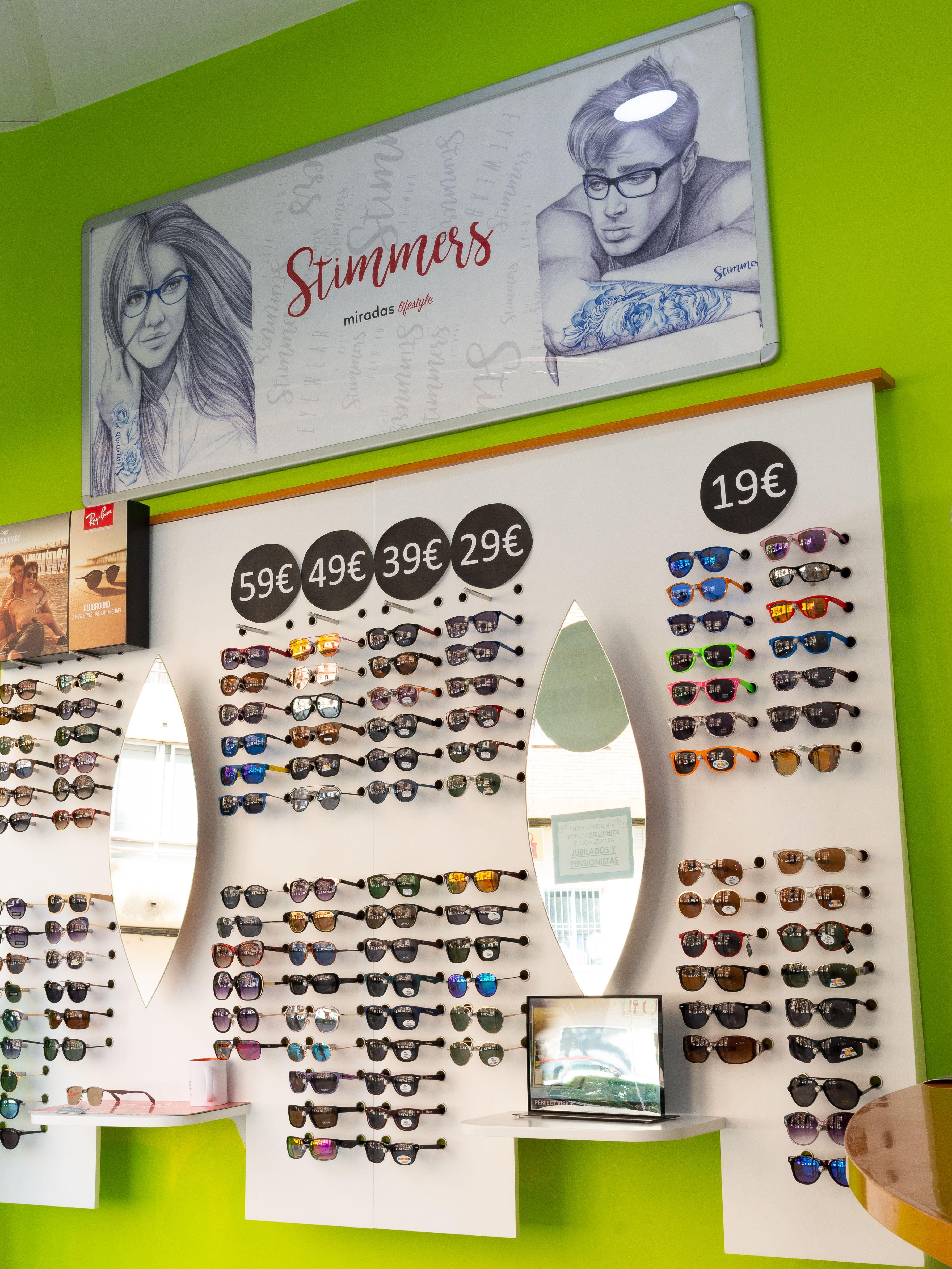 Expositor de gafas de sol