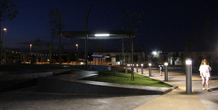 iluminacion parque san antonio de benageber