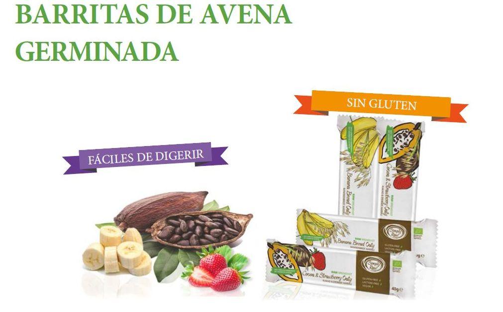 NUEVAS BARRITAS DE AVENA GERMINADA SIMPLY RAW
