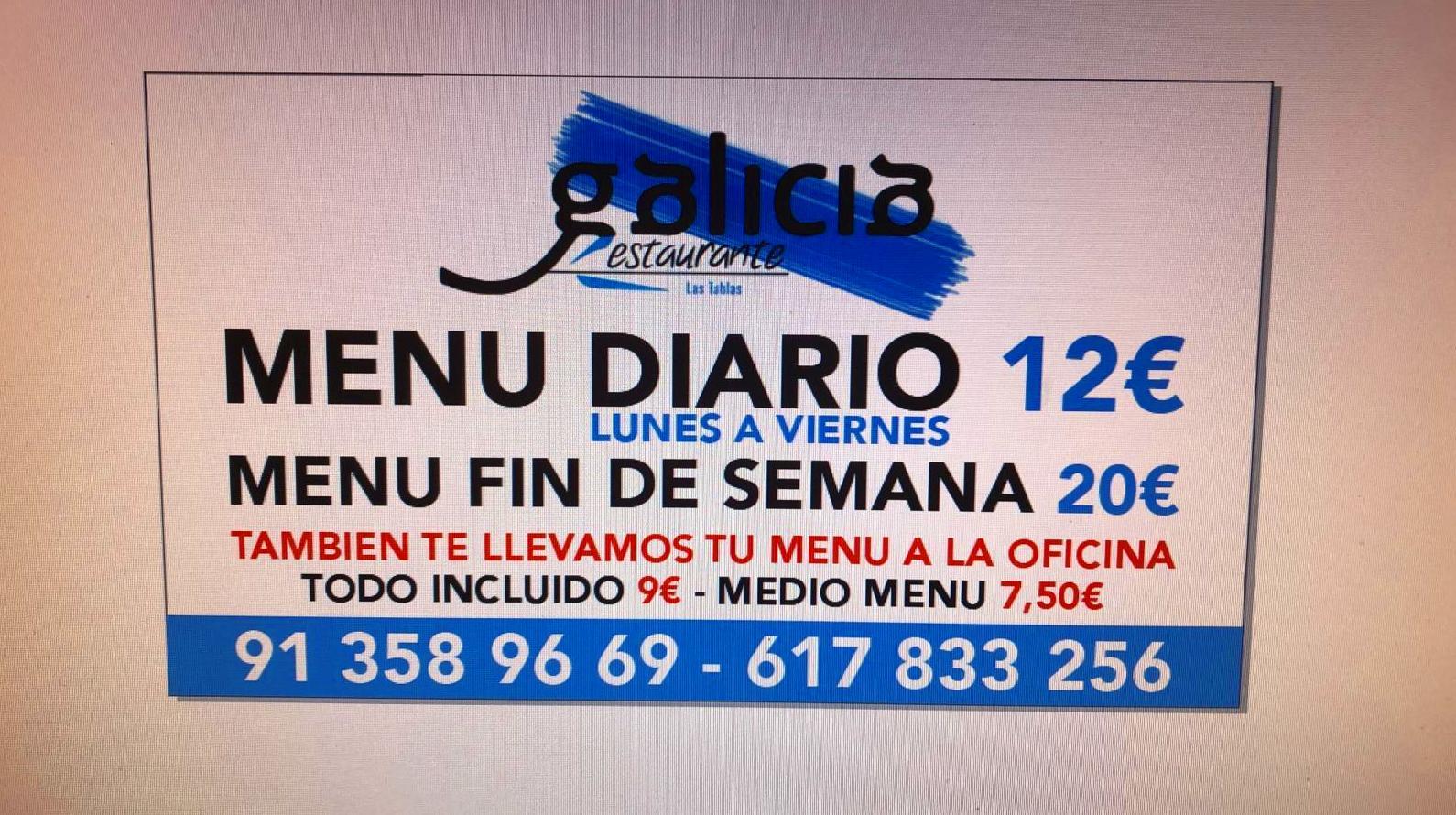 Foto 1 de Restaurante en Madrid   Restaurante Galicia Las Tablas