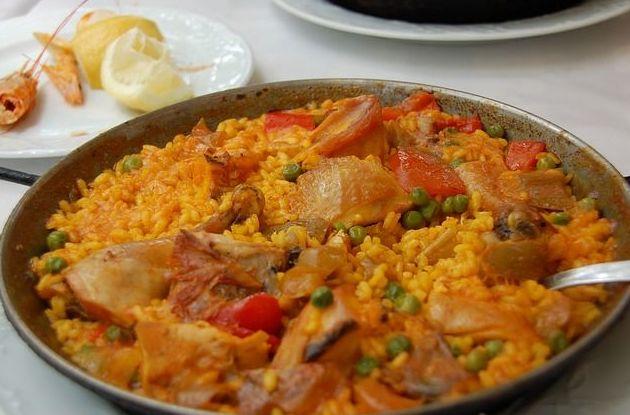 Paella valenciana en Castell de Xativa Restaurant