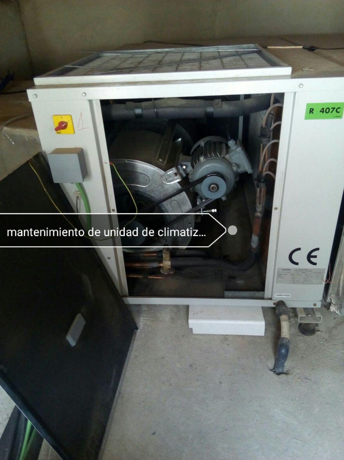 Mantenimientos de unidad de climatizacion ciatesa
