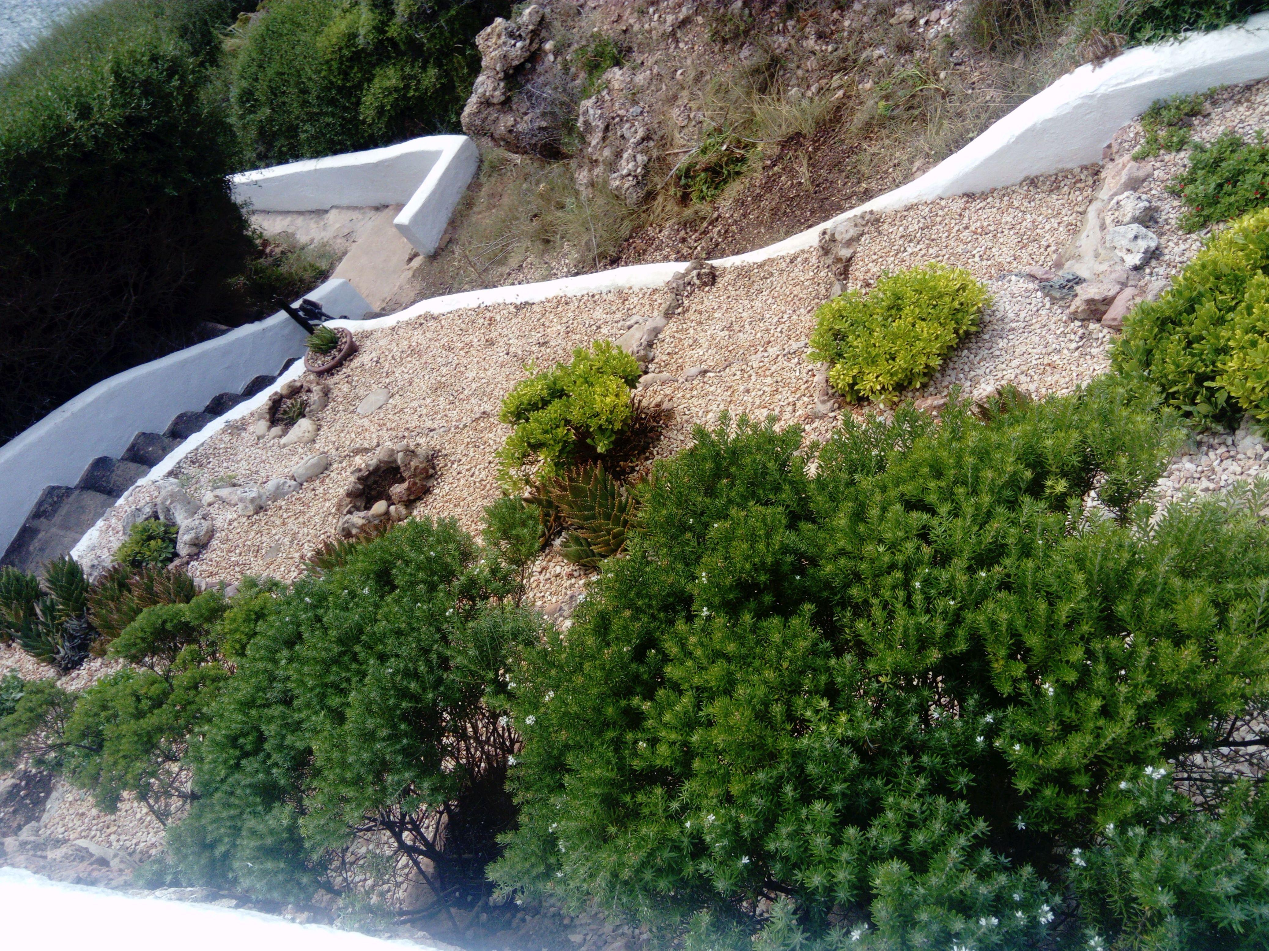 nuevo jardin aprovechando pendiente natural