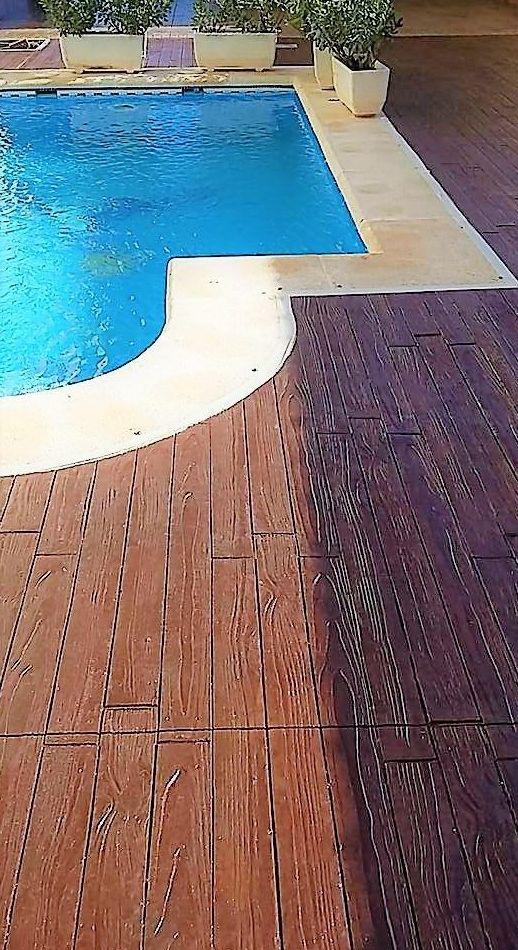 Hormigon Impreso imitacion madera: Pavimentos de hormigón de Pedro León Pulidos de Hormigón