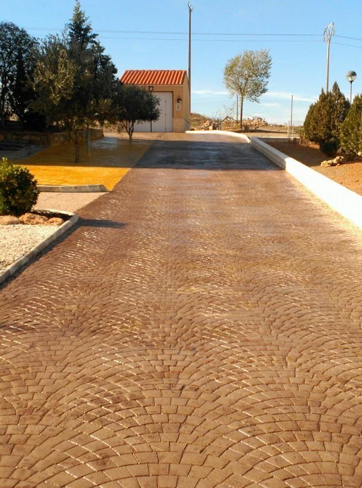Hormigón impreso canto romano.: Pavimentos de hormigón de Pedro León Pulidos de Hormigón