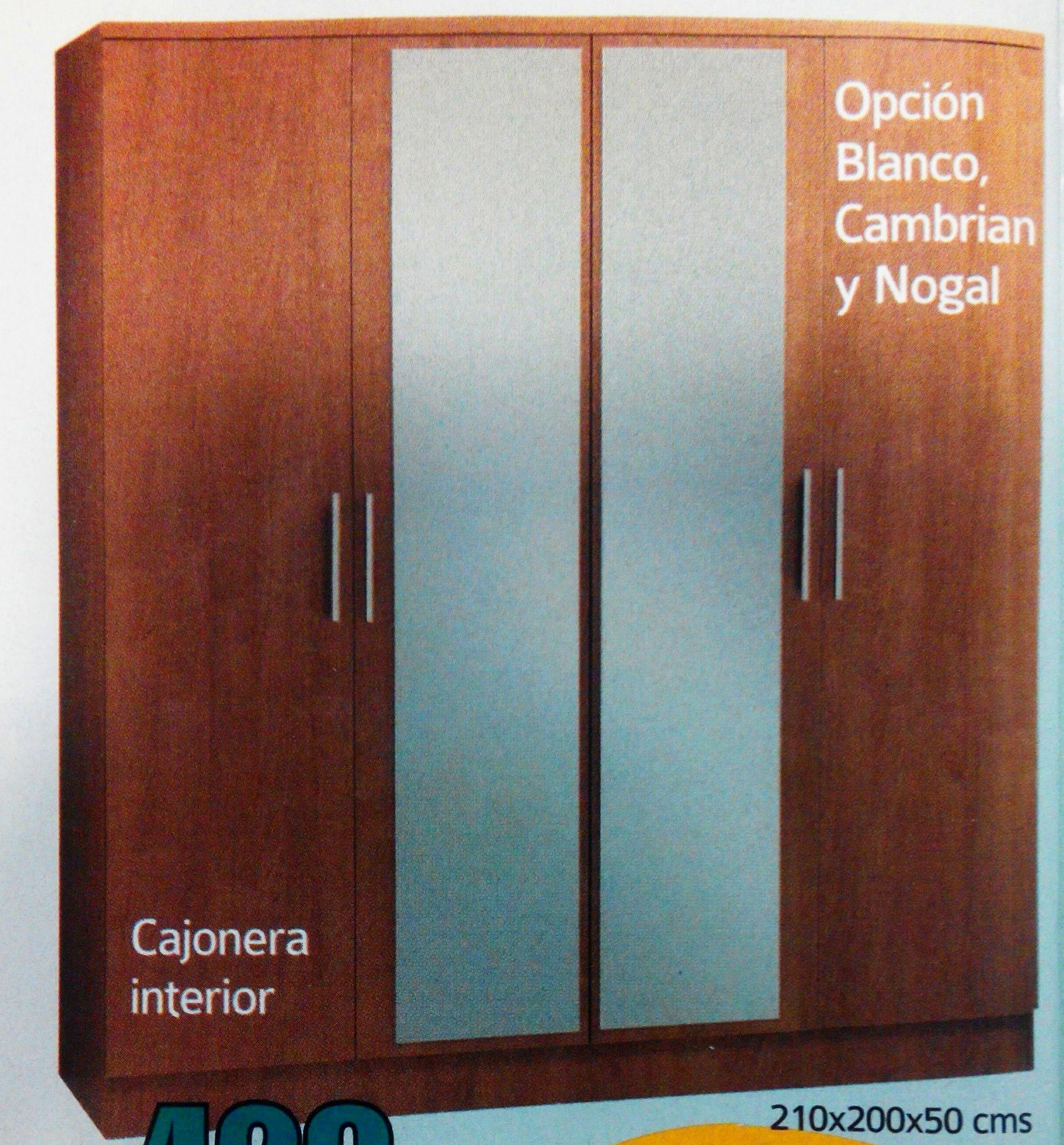 armario 4 puertas mod.21: Productos  de Muebles Llueca, S. L.