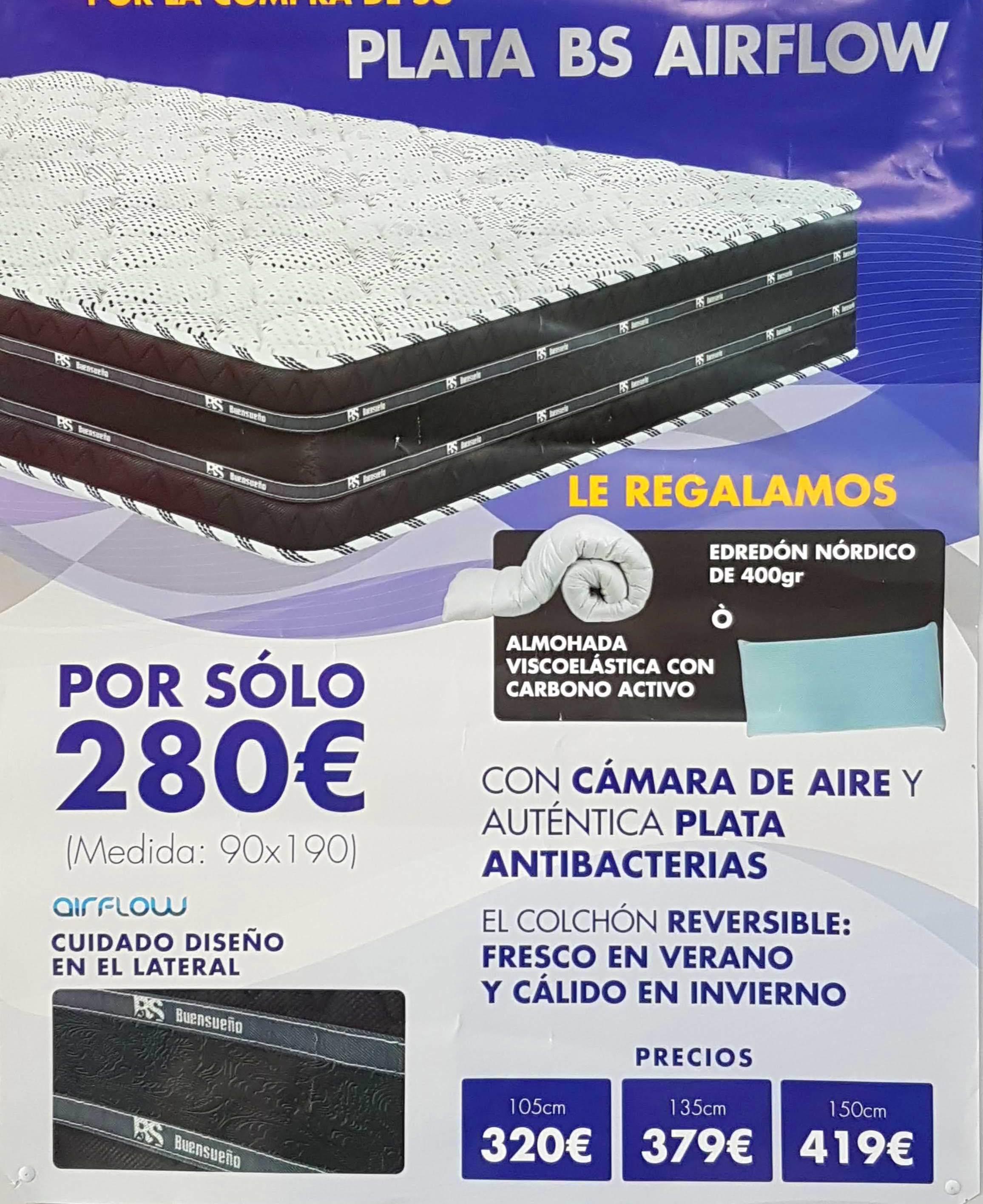 colchon plata BS AIRFLOW: Productos  de Muebles Llueca, S. L.