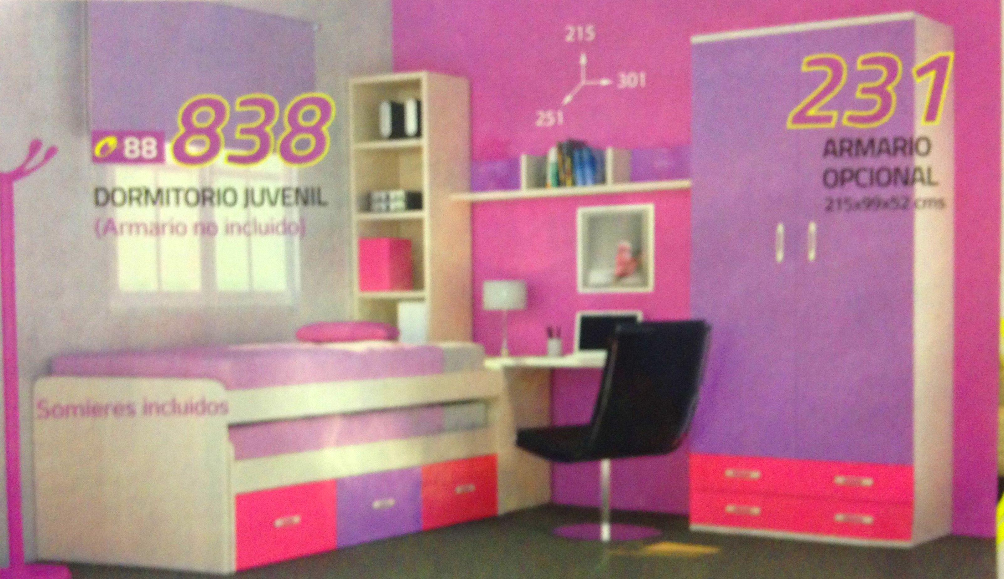 habitacion juvenil mod.81: Productos  de Muebles Llueca, S. L.