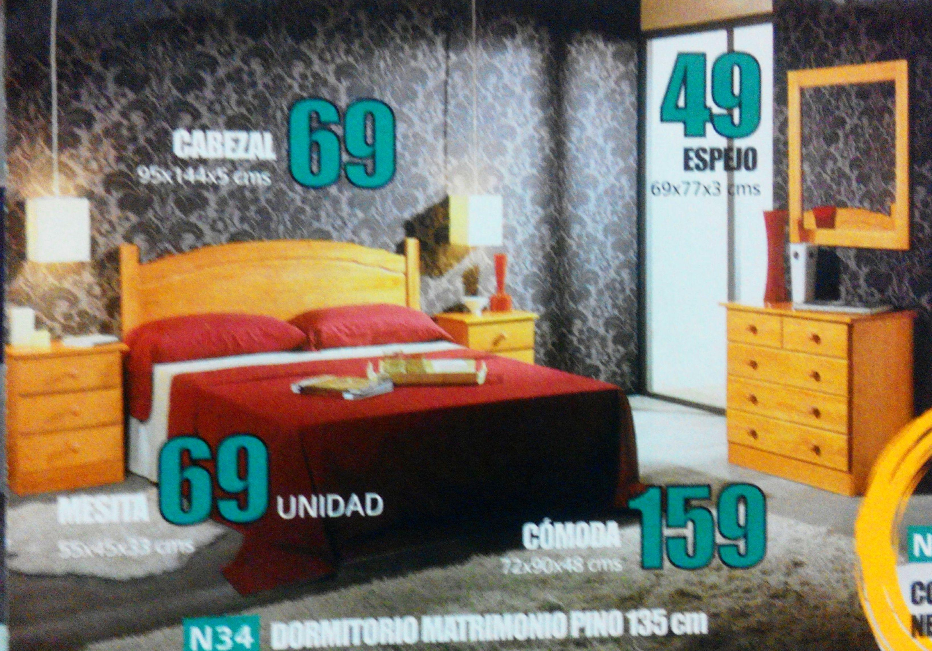 dormitorio pino mod.34: Productos  de Muebles Llueca, S. L.