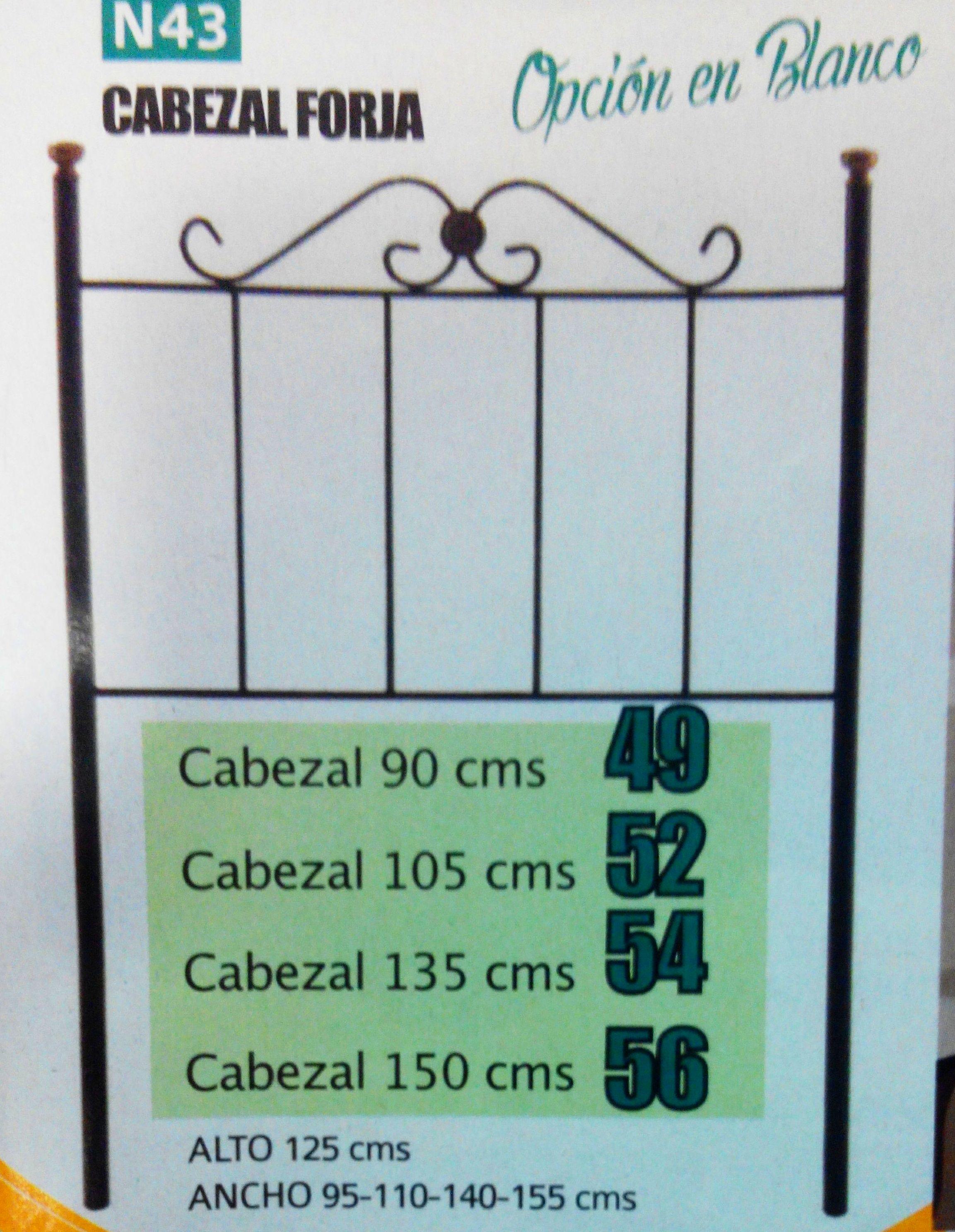 Cabezal de forja mod.43: Productos  de Muebles Llueca, S. L.