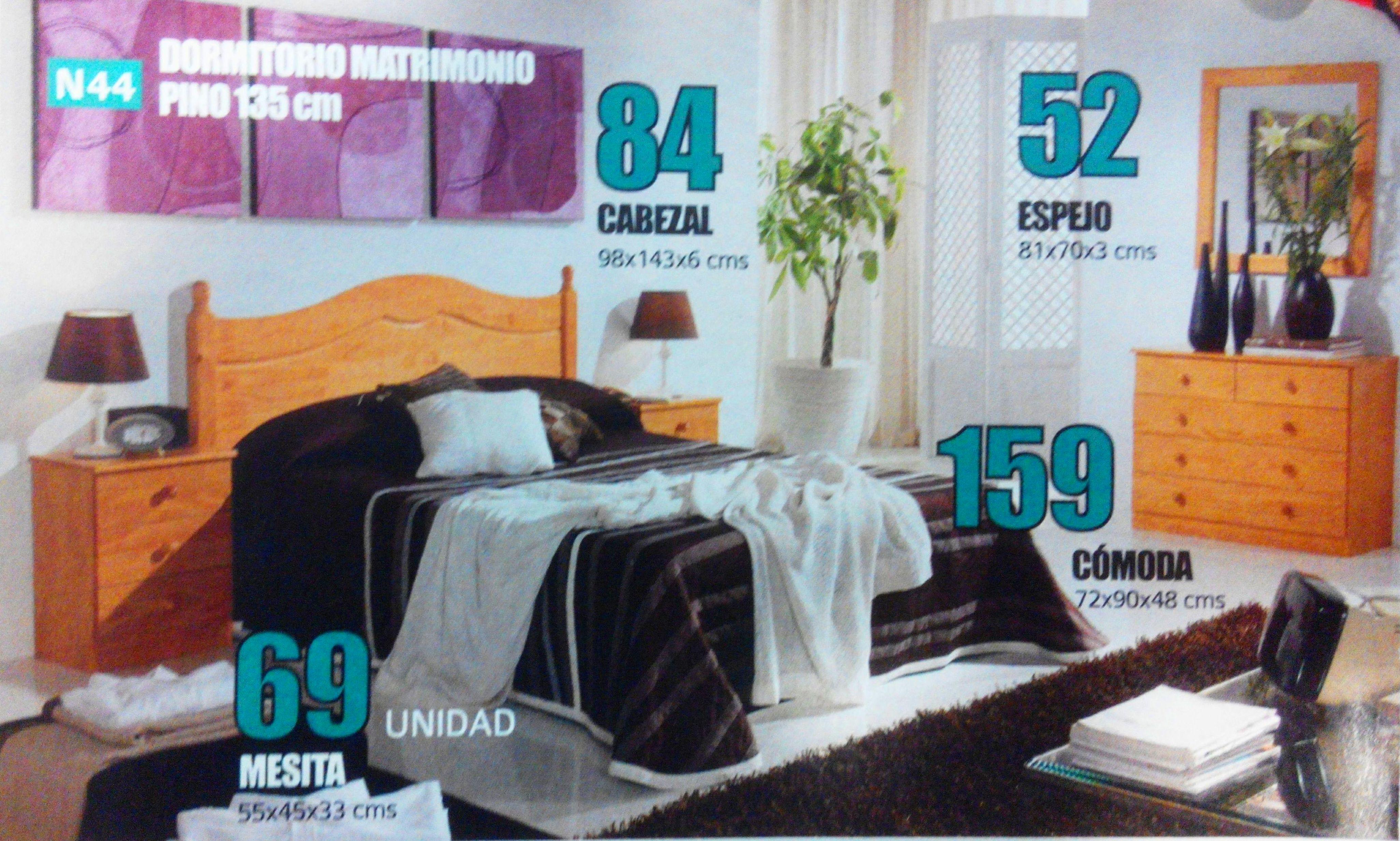 dormitorio pino  mod.44: Productos  de Muebles Llueca, S. L.