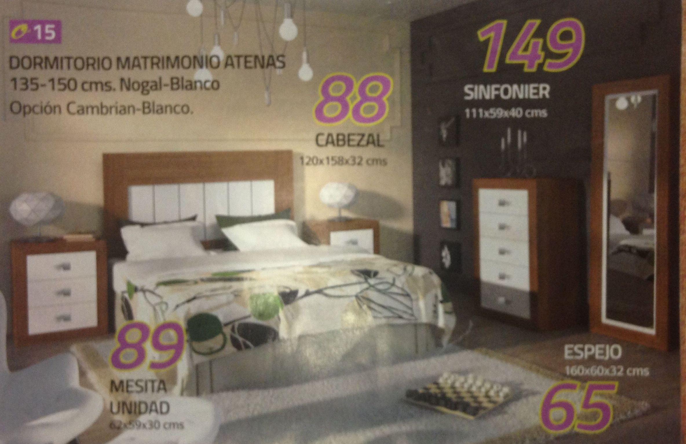 dormitorio matrimonio atenas: Productos  de Muebles Llueca, S. L.