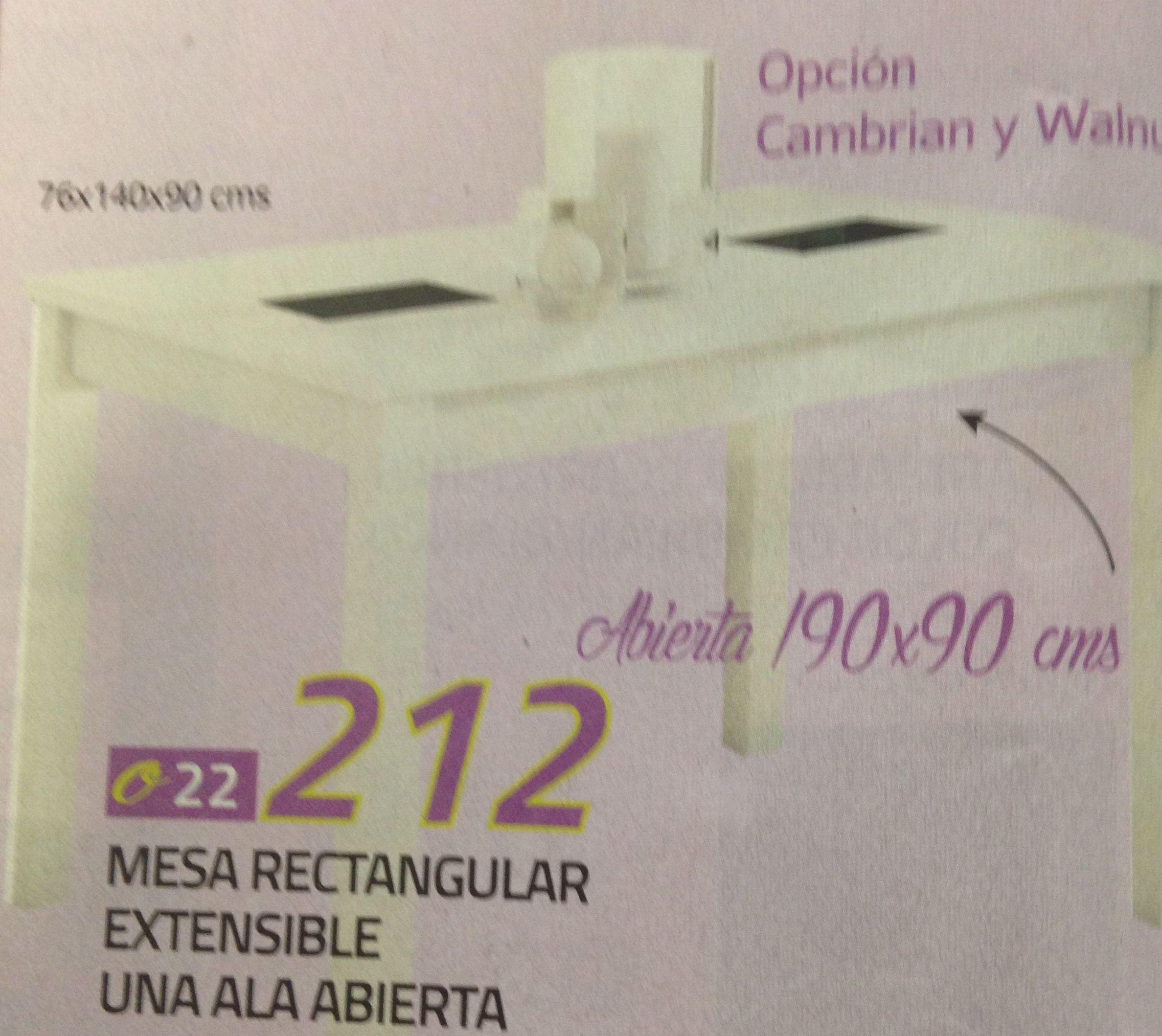 mesa rectangular extensible mod.15: Productos  de Muebles Llueca, S. L.