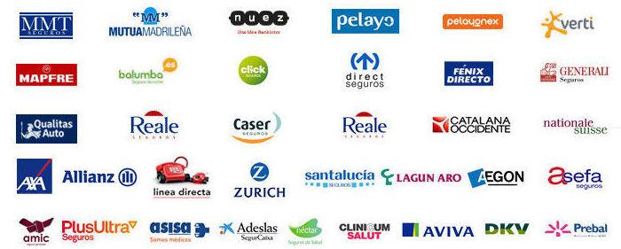Trabajamos con todas las compañias de seguros: Servicios de Legauto Motor