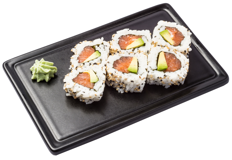 Uramaki  salmón y aguacate(8 ud)  6,00€: Carta de Restaurante Sowu