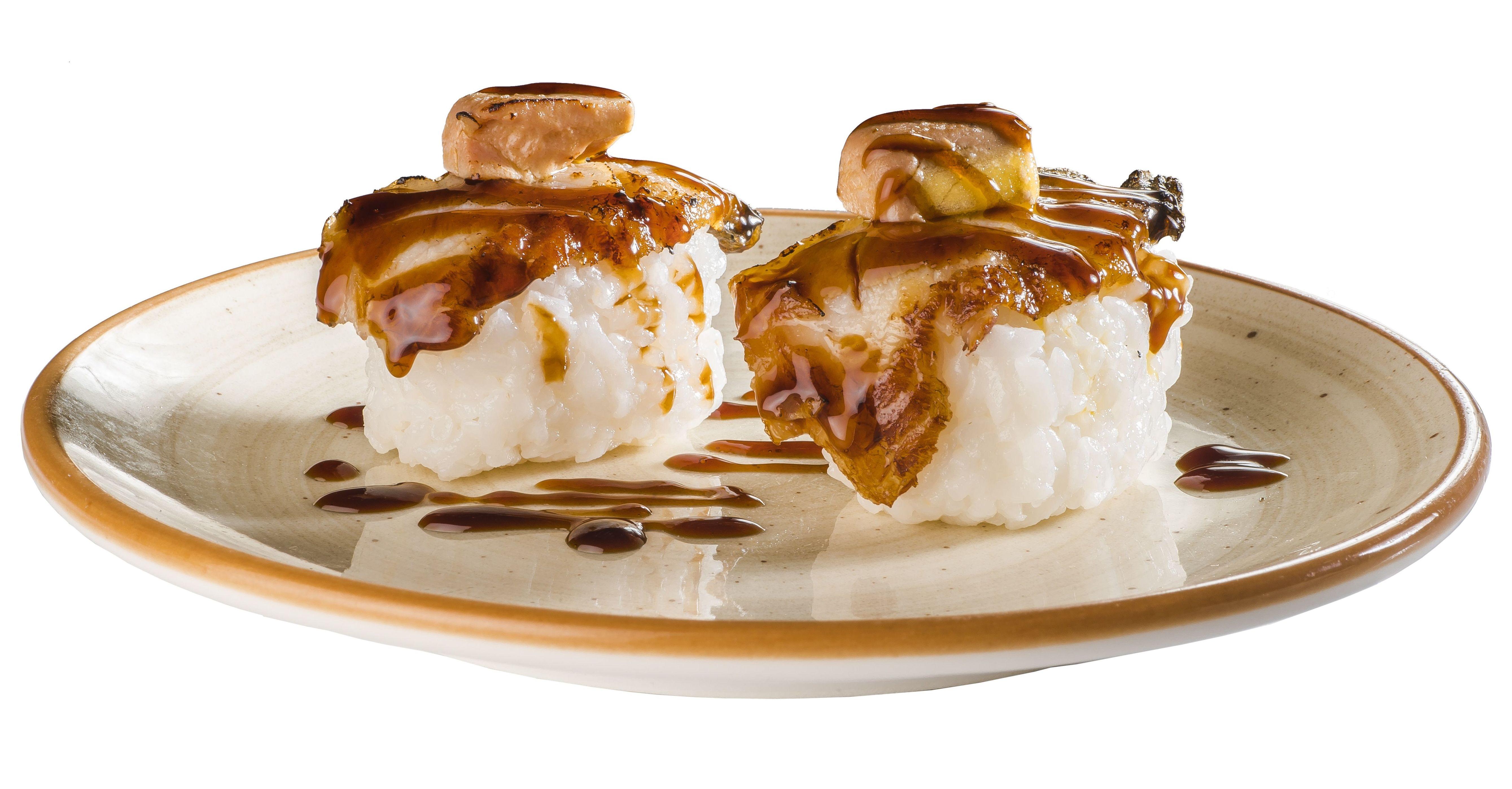 Anguila y foie flameado (2 piezas)  4,50€: Carta de Restaurante Sowu