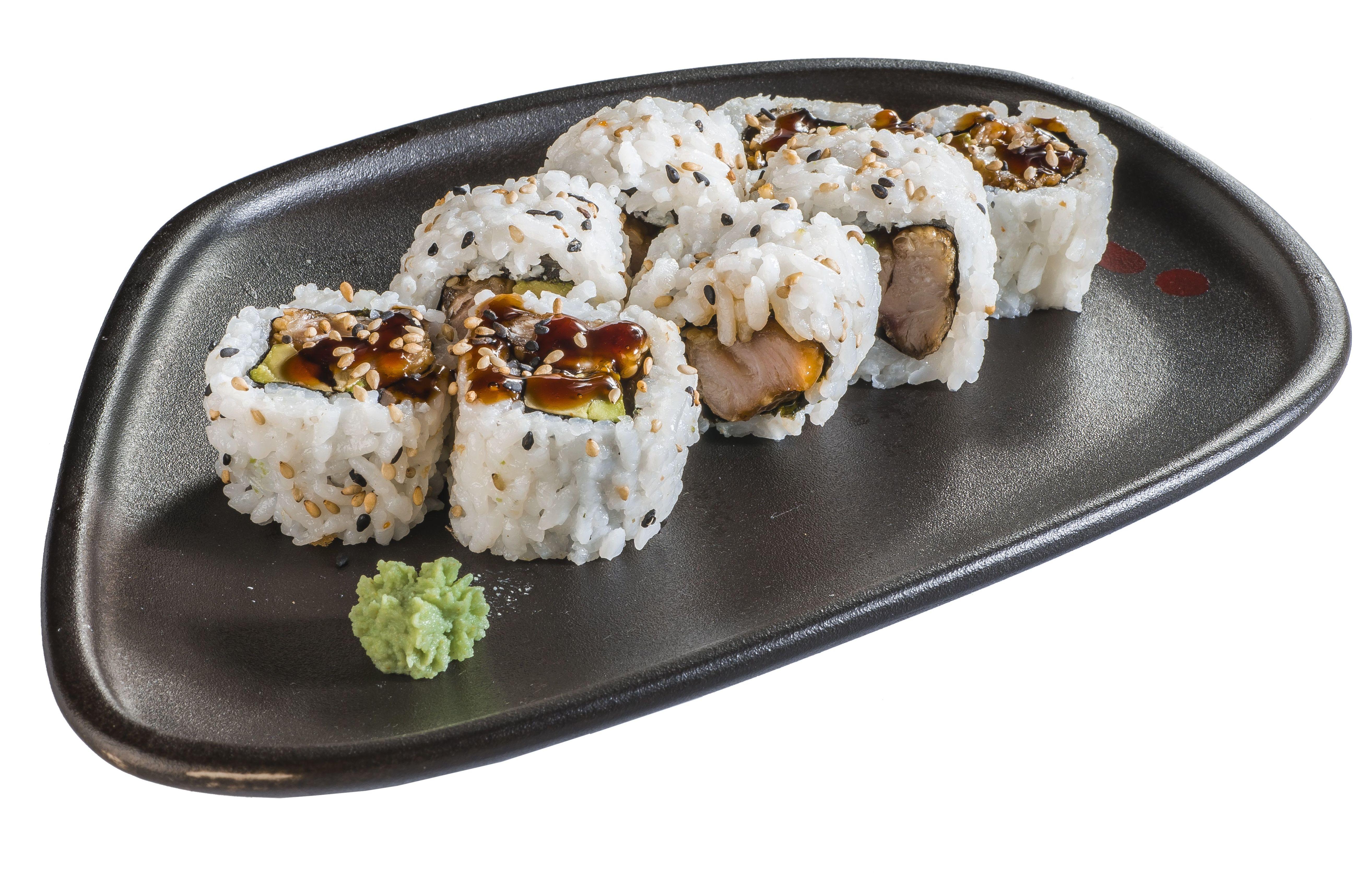 Uramaki de pollo crujiente  6,50€: Carta de Restaurante Sowu