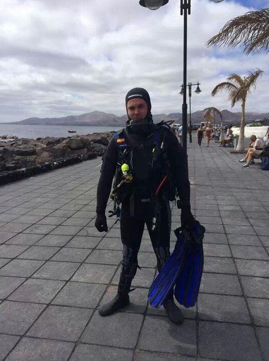 Salida de buceo en Lazarote (2014)