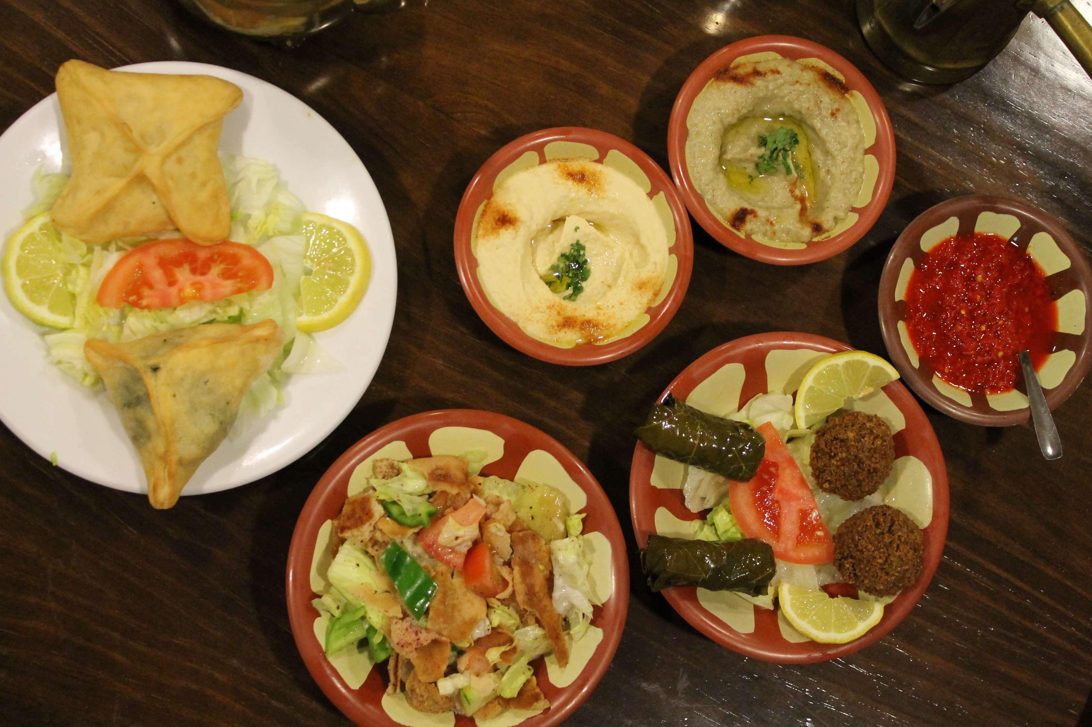 Menú libanés variado - Restaurante Mataró - Les Mil i Una Nits