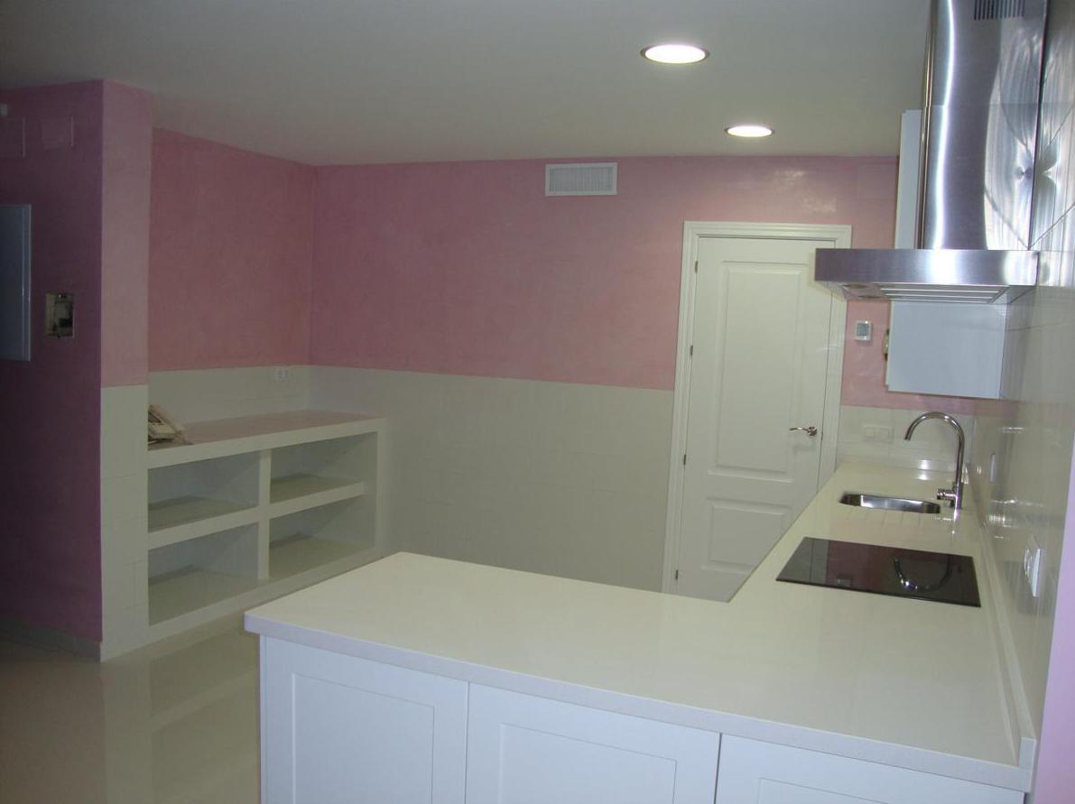 Estuco Veneciano color rosa