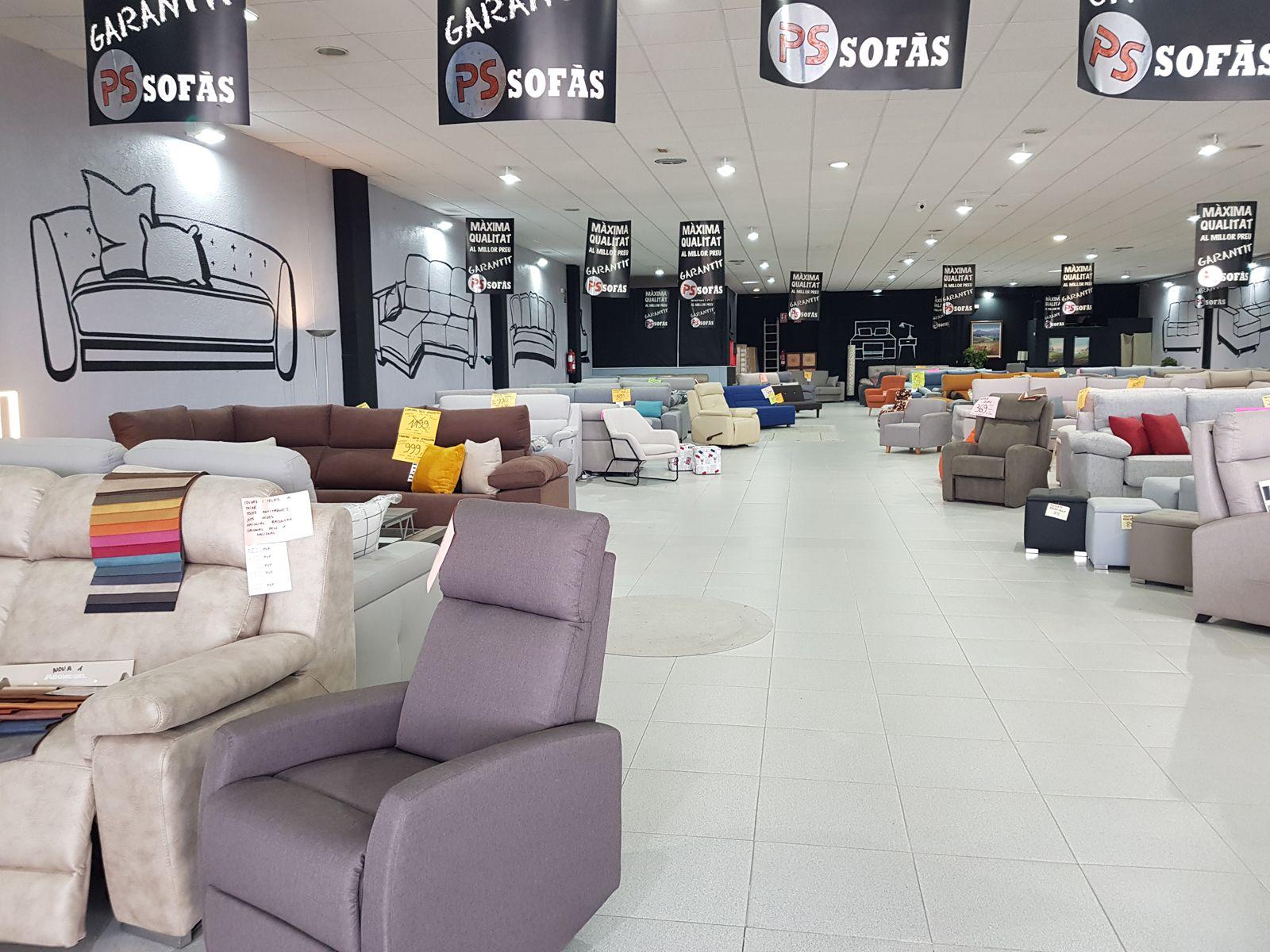Tienda de sofás en Vilafranca