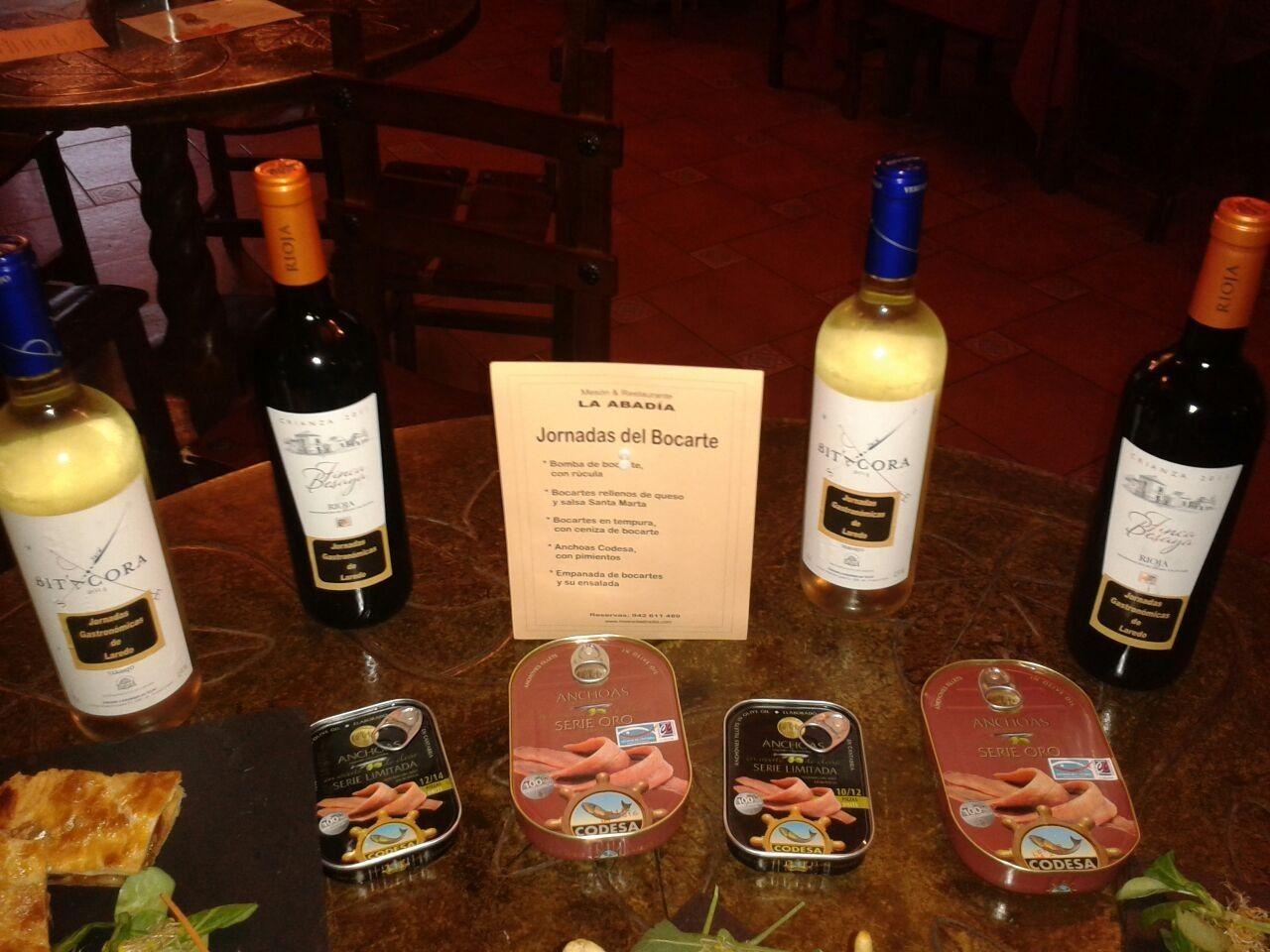 Nuestra selección de anchoas y vinos para las jornadas del bocarte