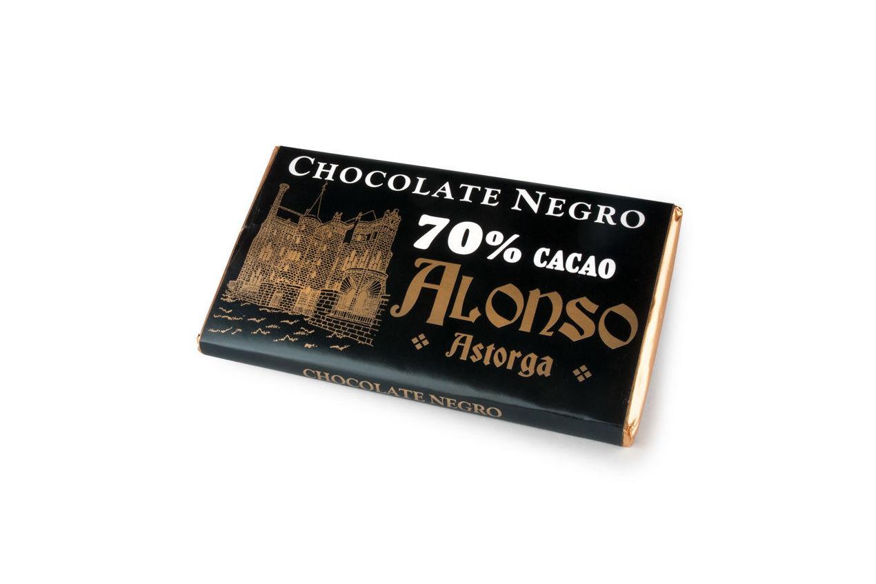Chocolate negro puro 70% Alonso: Productos de El Racó del Bierzo