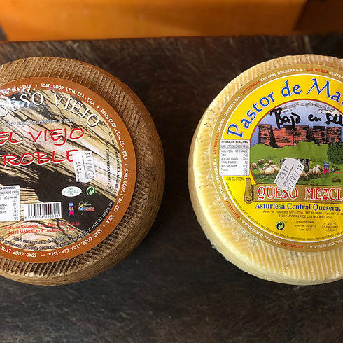 Pack oferta Quesos de León: Oveja viejo + mezcla bajo en sal, 6 kg entre lo: Productos de El Racó del Bierzo