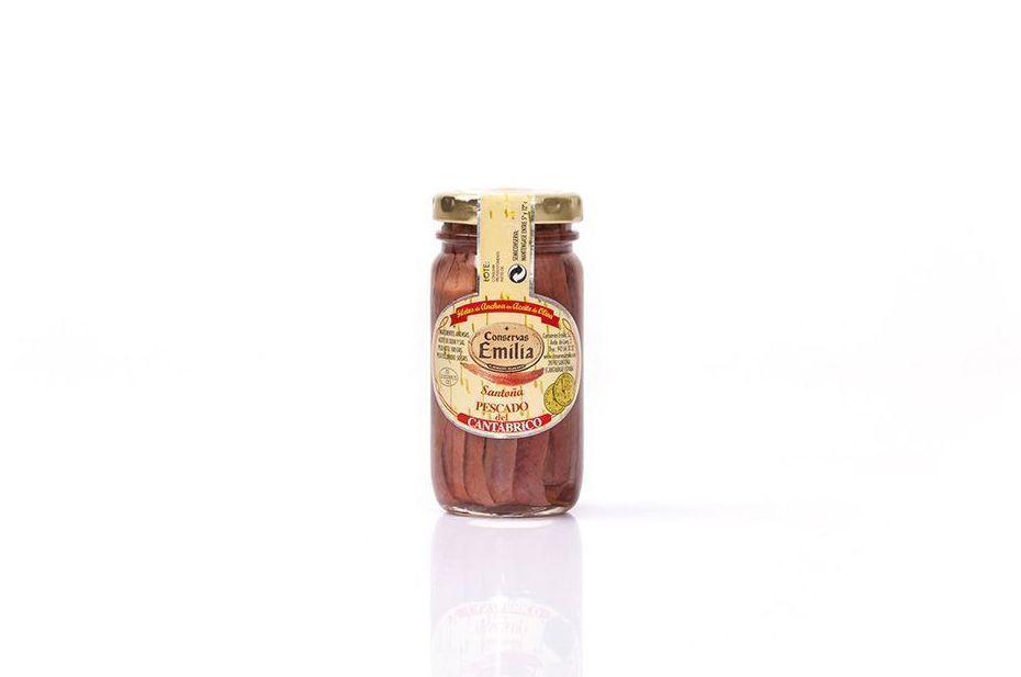 Filetes de Anchoa del Cantábrico en aceite de oliva 100 g: Productos de El Racó del Bierzo