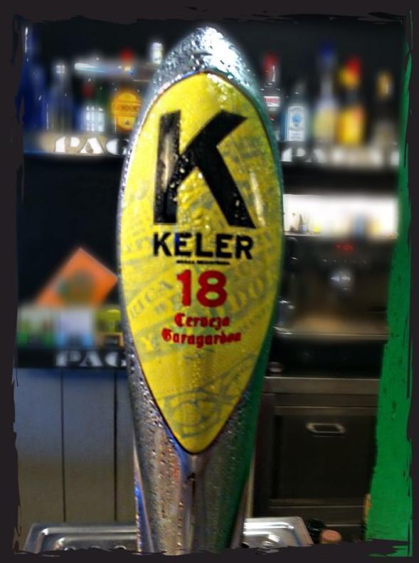 En Pagadi Taverna ofrecemos cerveza Keler 18