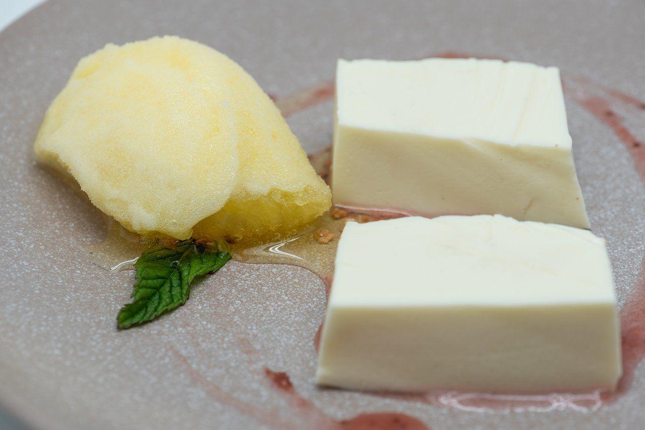 Semifrío de queso