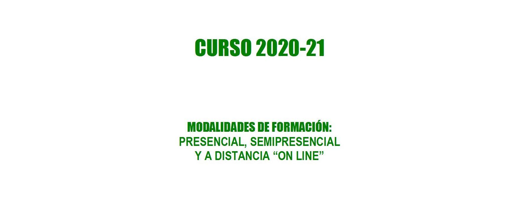 OFERTA FORMATIVA CURSO 2020-21: OFERTA FORMATIVA de Academia Darwin