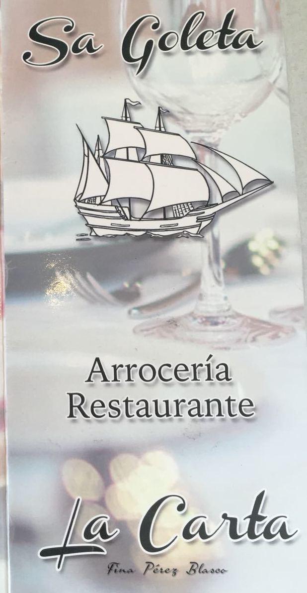 CONOCE NUESTRA CARTA: Productos de Restaurante Sa Goleta