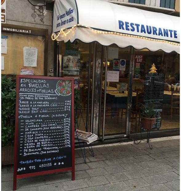 Restaurante especializado en arroces en Palma de Mallorca