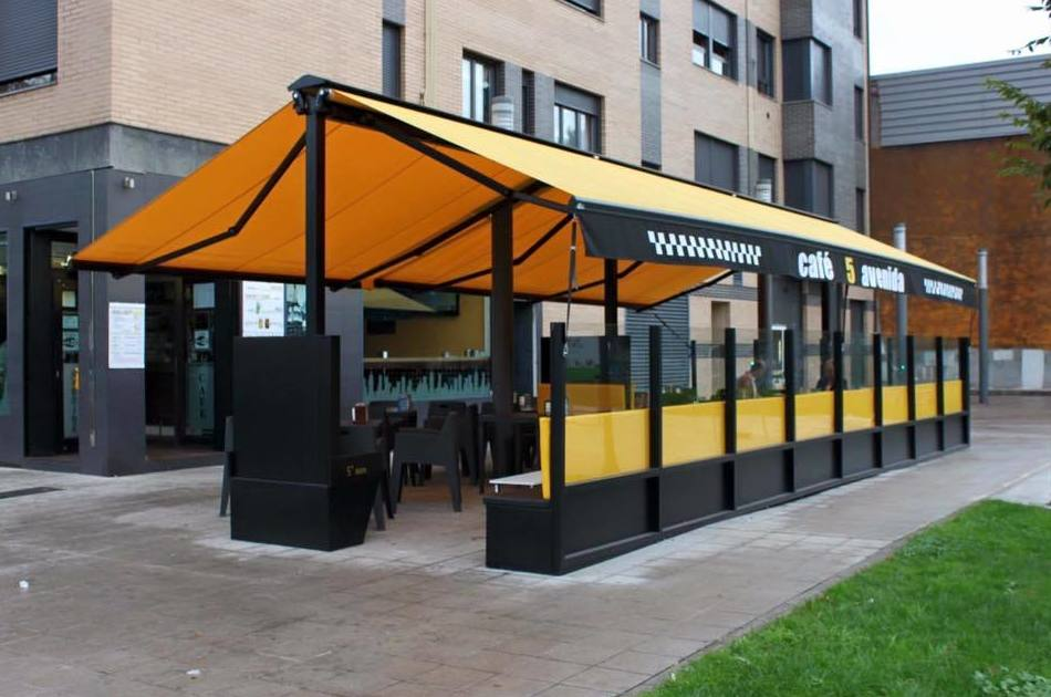 Cerramientos de terrazas de hostelería en Asturias