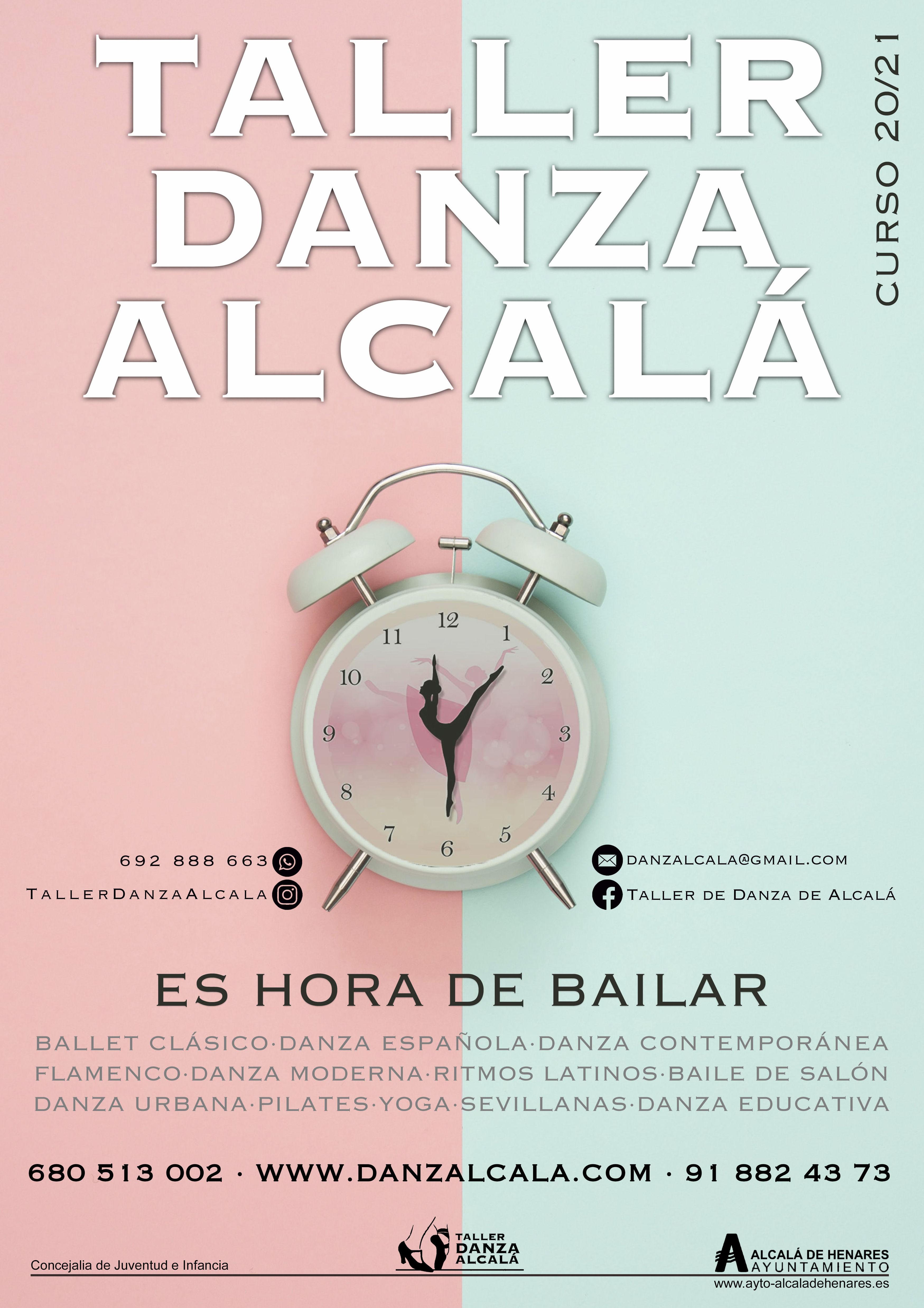 Curso 20/21: Actividades y horarios   de Taller de Danza de Alcalá