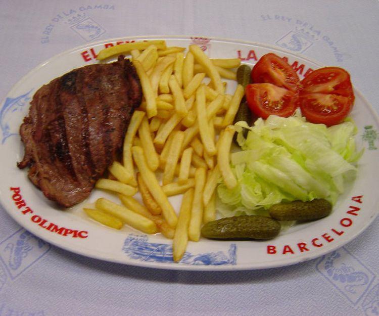 Bistec a la plancha en Barcelona