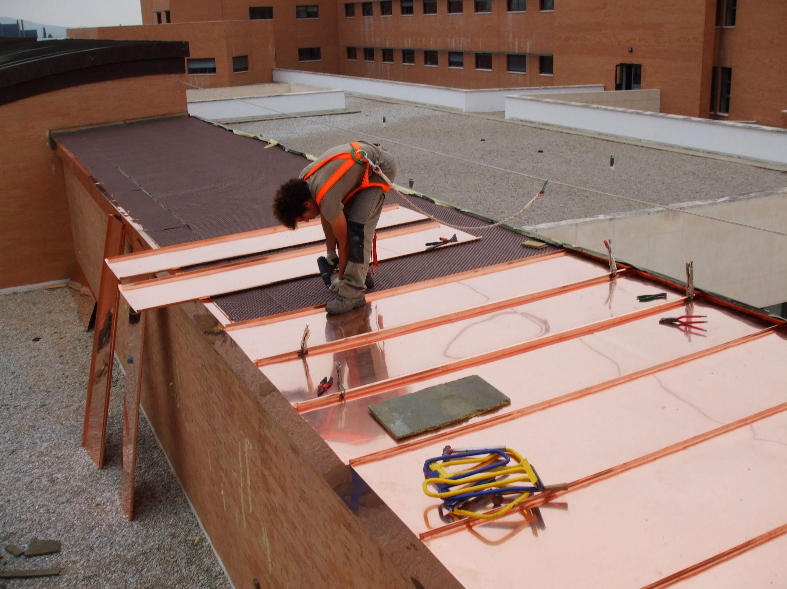 Cubierta cobre en proceso